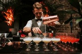 Alex making wedding cocktails in LDN