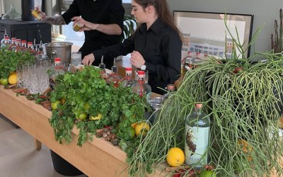Cocktail Bartenders working their magic at a corporate event