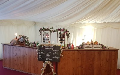 Indoor setup for a wedding
