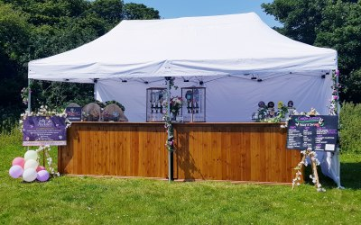 Double, fully stocked bar for outside events events