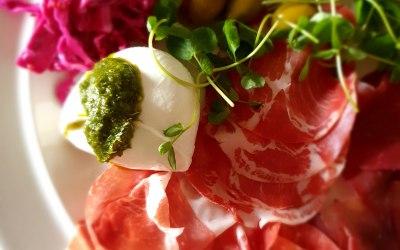 Coppa, Mozzarella and Pickled Veg Platter
