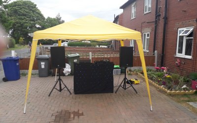 we can bring our own gazebo for outside parties