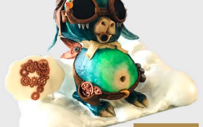Steampunk Alien Cake