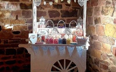 Blue theme wedding set up