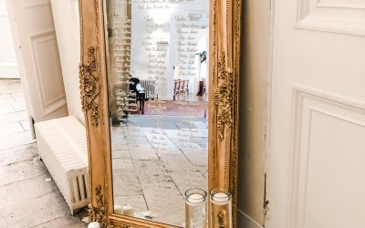 Luxury Gold mirror table plan