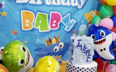 Baby Shark Garland for 1 year old baby birthday 04JUL20