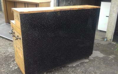 Black Sparkly Fronted Bar.
