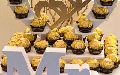 Ferrero Rocher stands