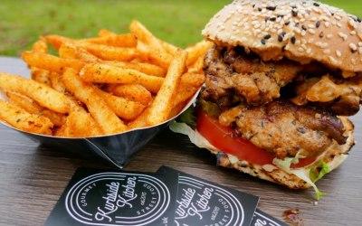 Cajun Chicken Burger & Cajun Fries!