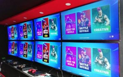8 43-inch HD 4K screens
