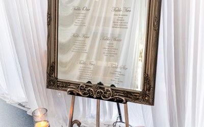 Easel Table Plan