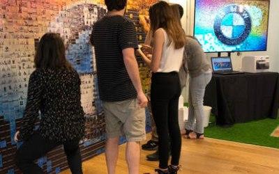 Interactive Mosaic Wall