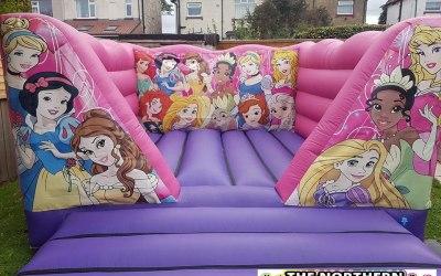 Princess bouncy castle North East.