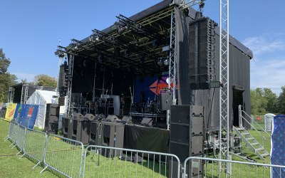 Audio provision for 3 stages at The Phoenix Festival, Cirencester