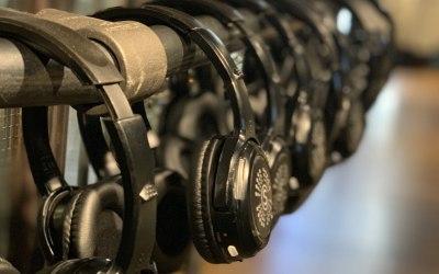 Wireless headphones providing a translation option for a fashion launch